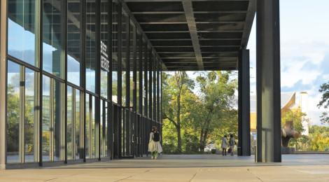 Berlin 27 Sept 2012 Neue Nationalgalerie,  designed by Mies van der Rohe 1968.