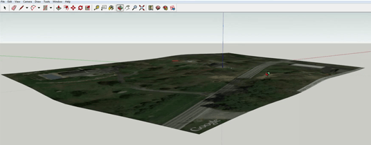 Import a map with google earth terrain into sketchup