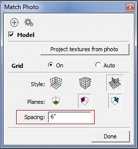 Match photo in sketchup