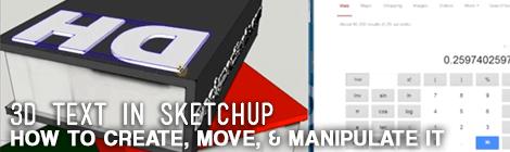 3d Text Sketchup