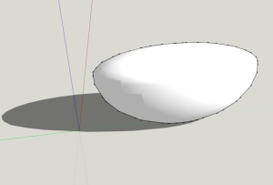 Curved shape in sketchup