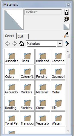 sketchup materials