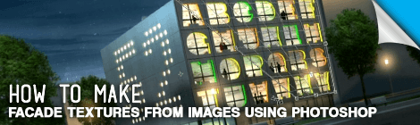 Make Facade Textures from Images Using Photoshop