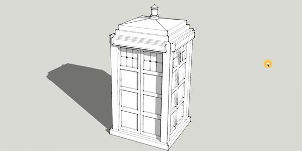 Tardis Sketchup Model