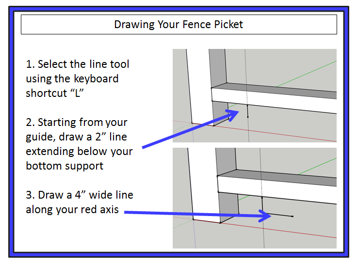 drawing fence picket