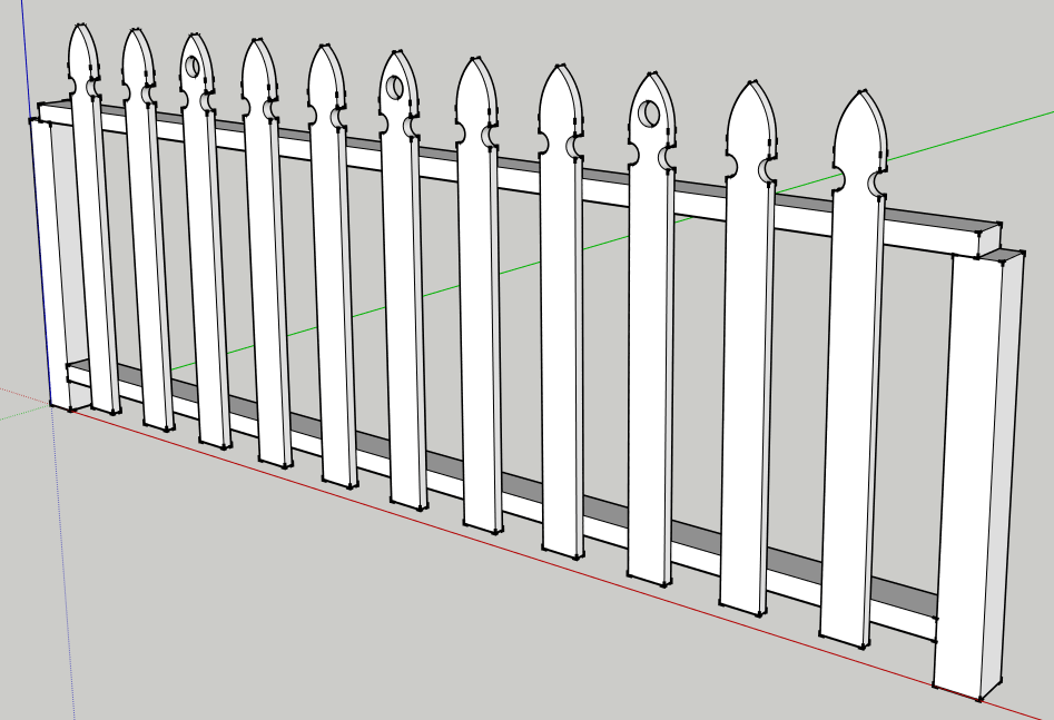 sketchup 3d fence