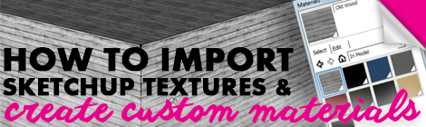 sketchup textures to custom materials