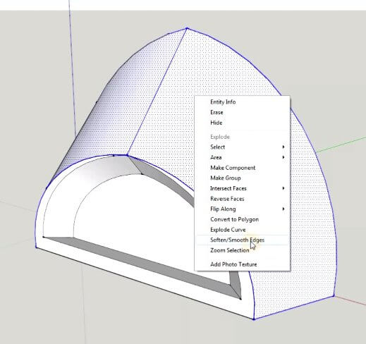 Soften sketchup edges