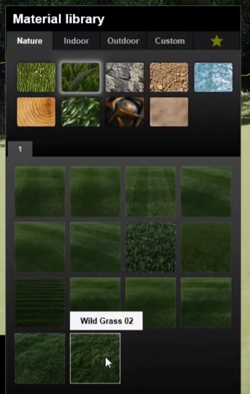 Lumion 9 grass material library