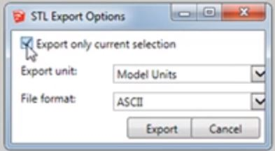 from Sketchup to STL export options