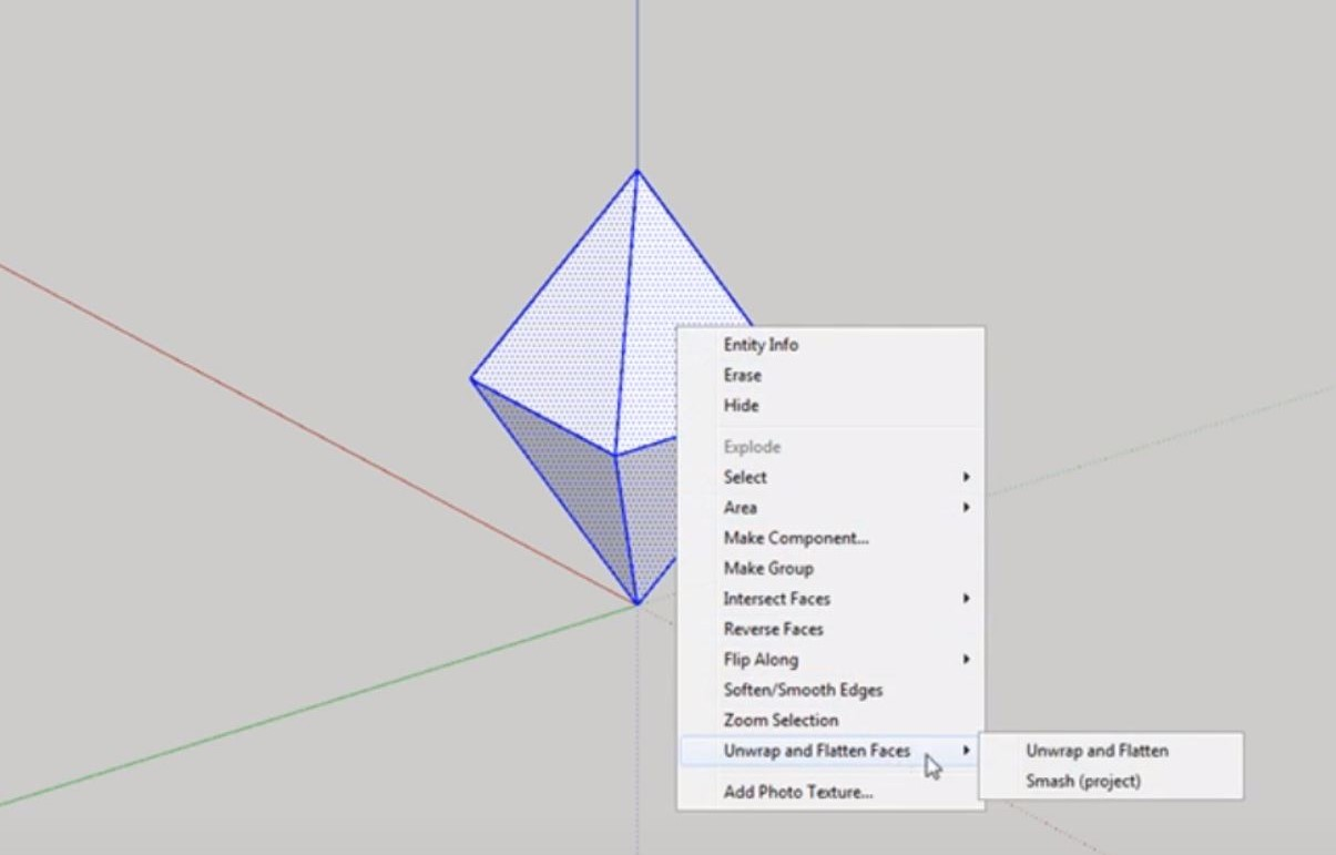 sketchup unfold unwrap and flatten
