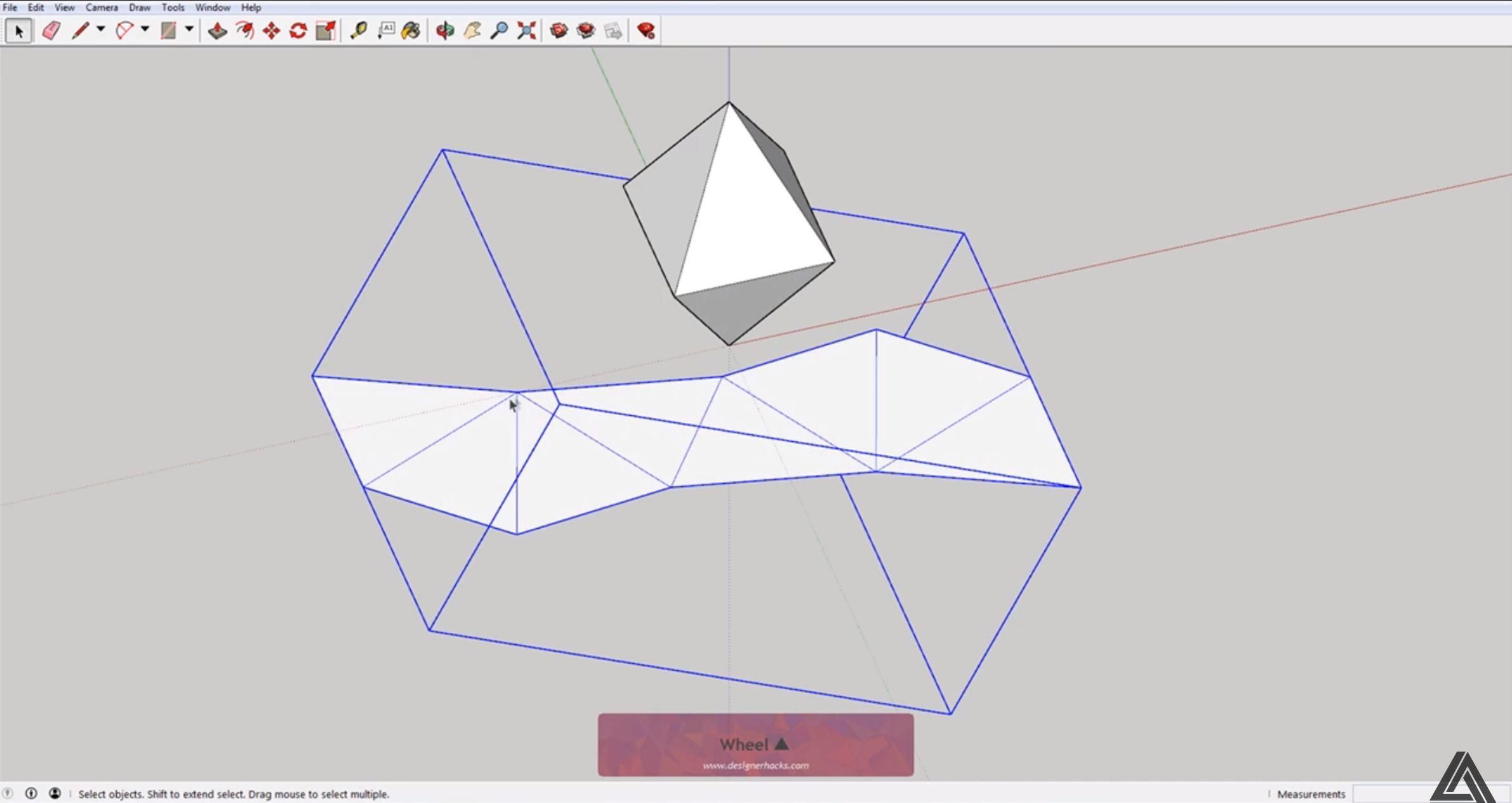 sketchup unfolded model