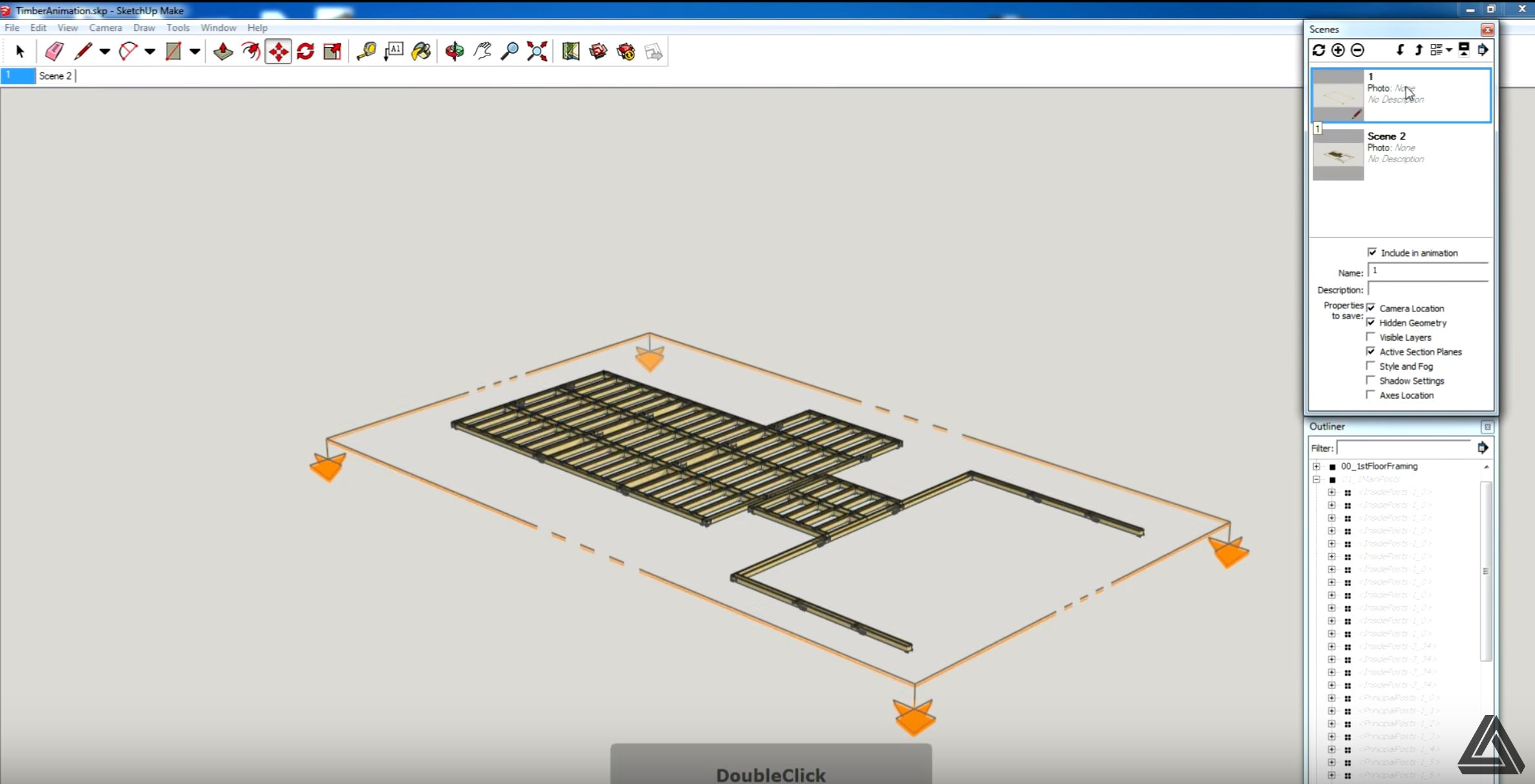 Sketchup shortcuts section plan view