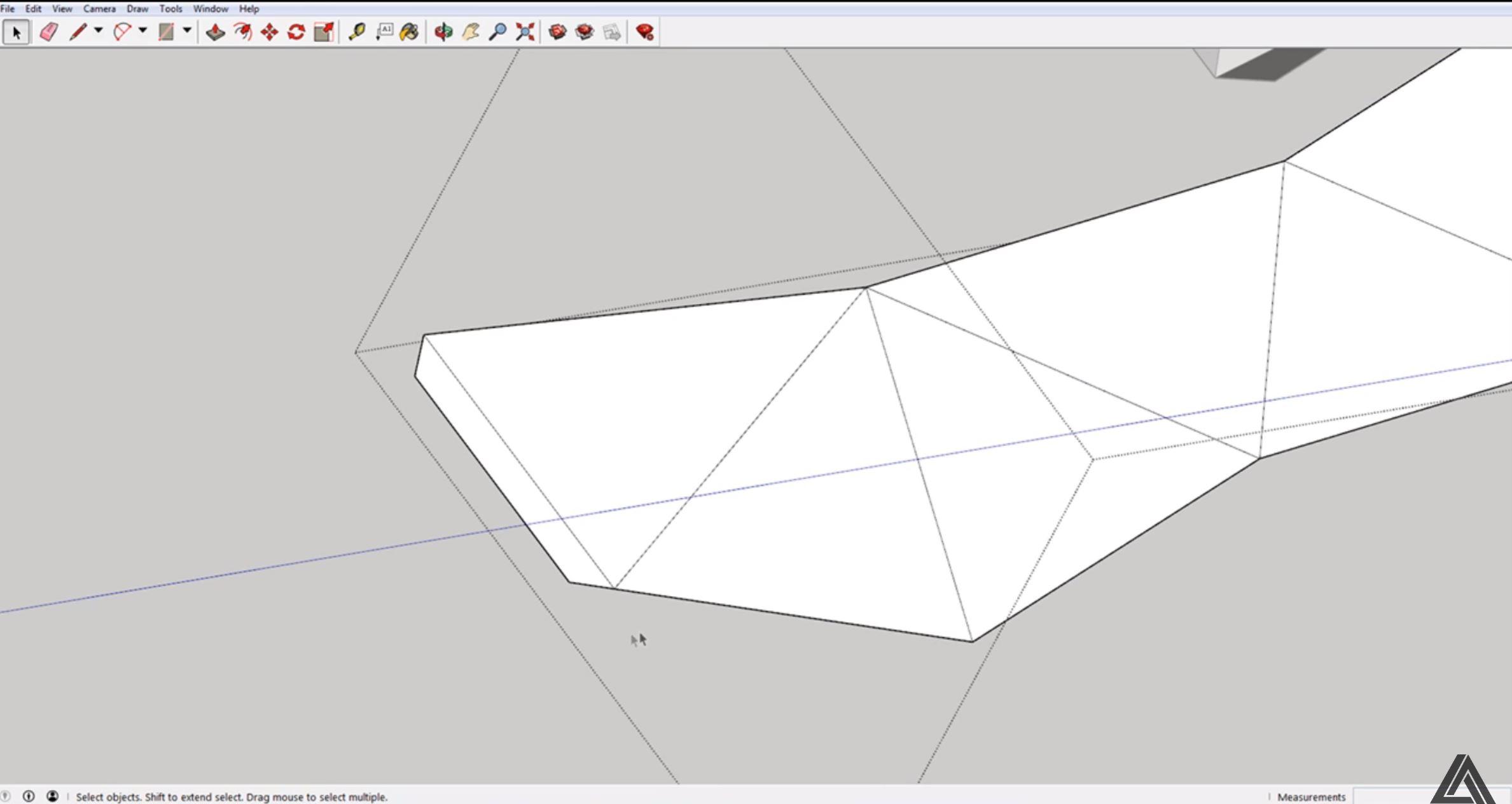 sketchup unfolded model tabs
