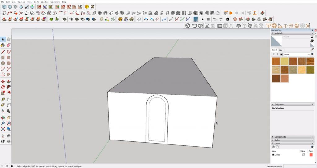 Door detail in Sketchup for architecture