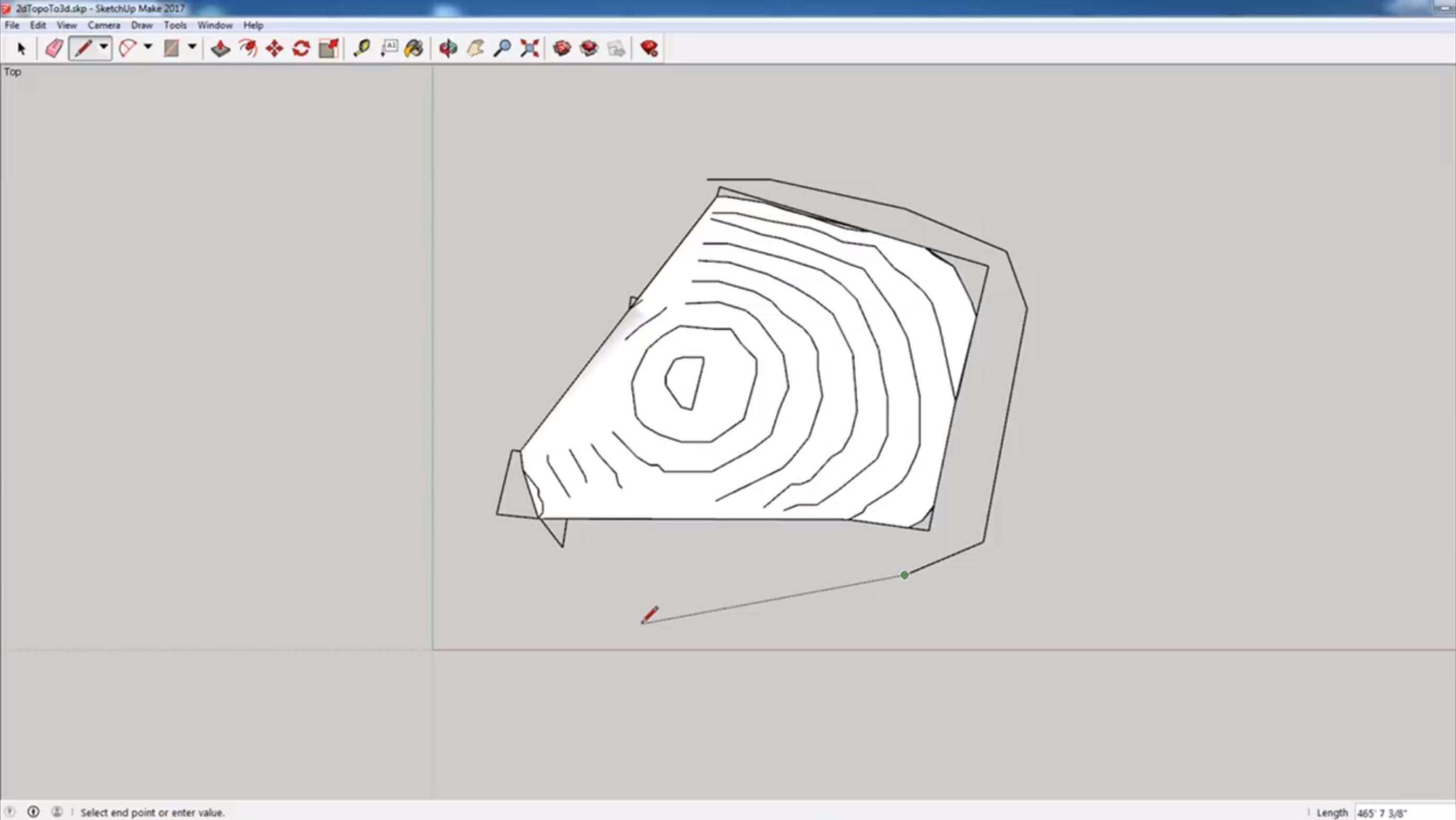 adding contour lines survey to 3D