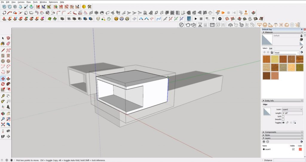 Adding architectural details in Sketchup for architecture