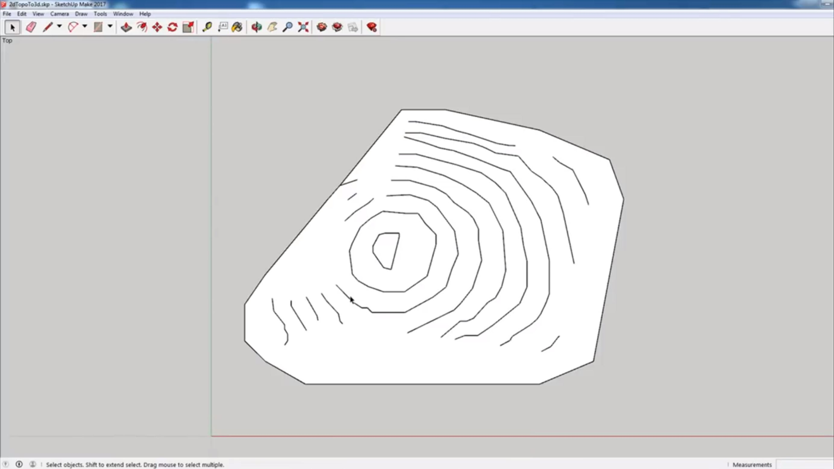 survey to 3D draw from contours