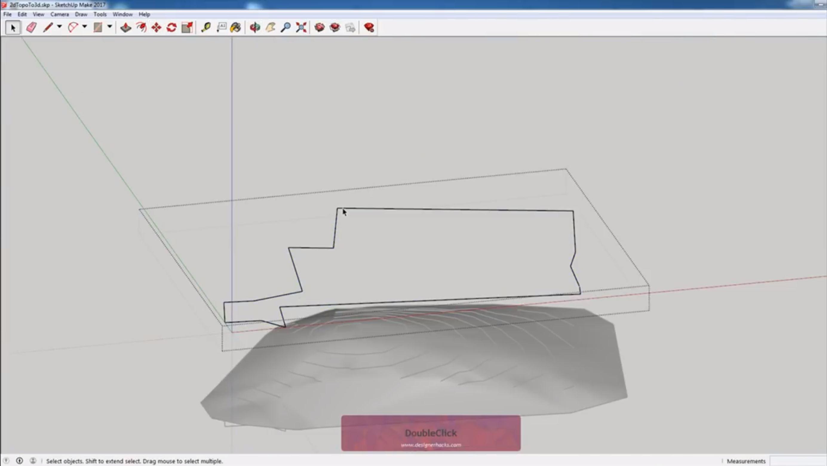 copy survey to 3D property line