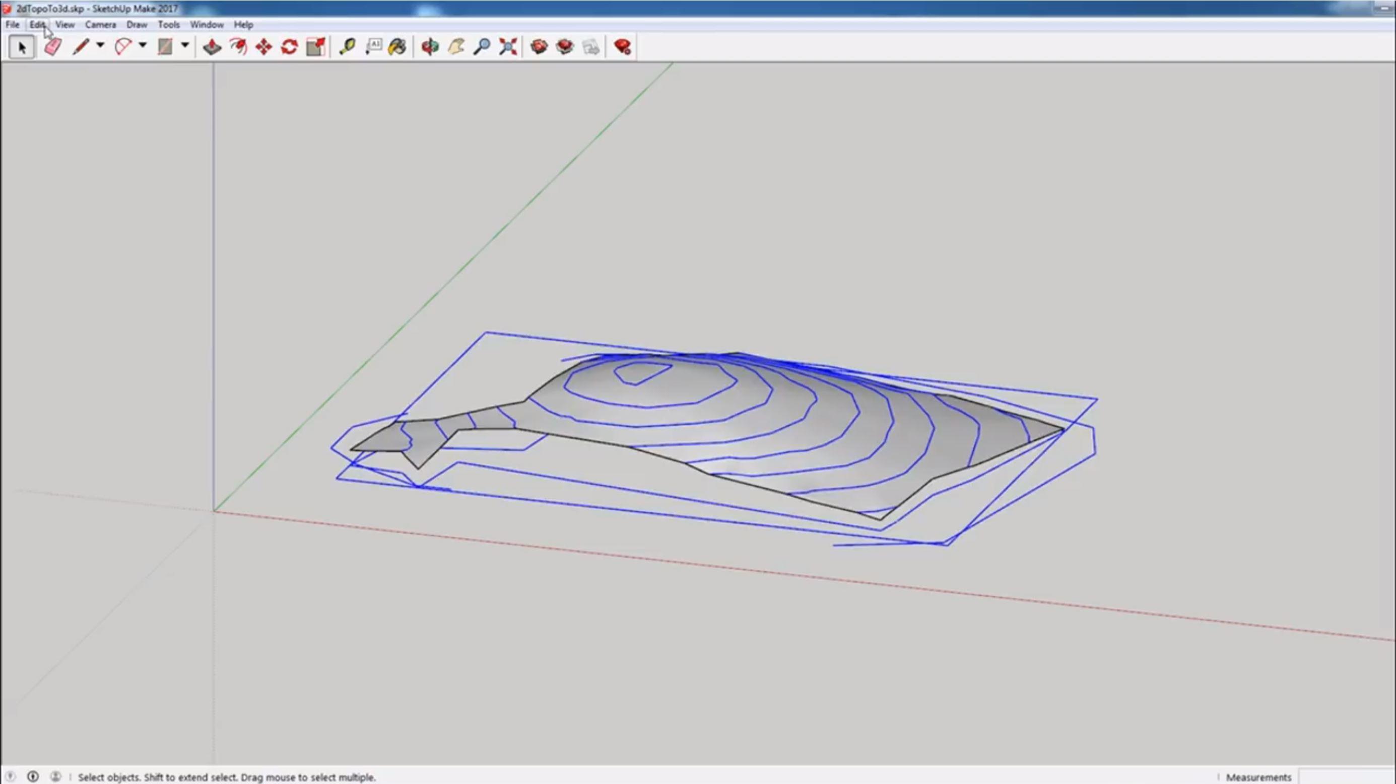 hide survey to 3D linework