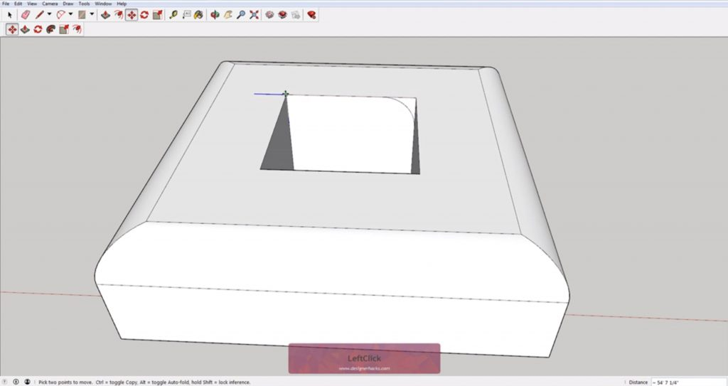 Moving profile for Sketchup follow me tool