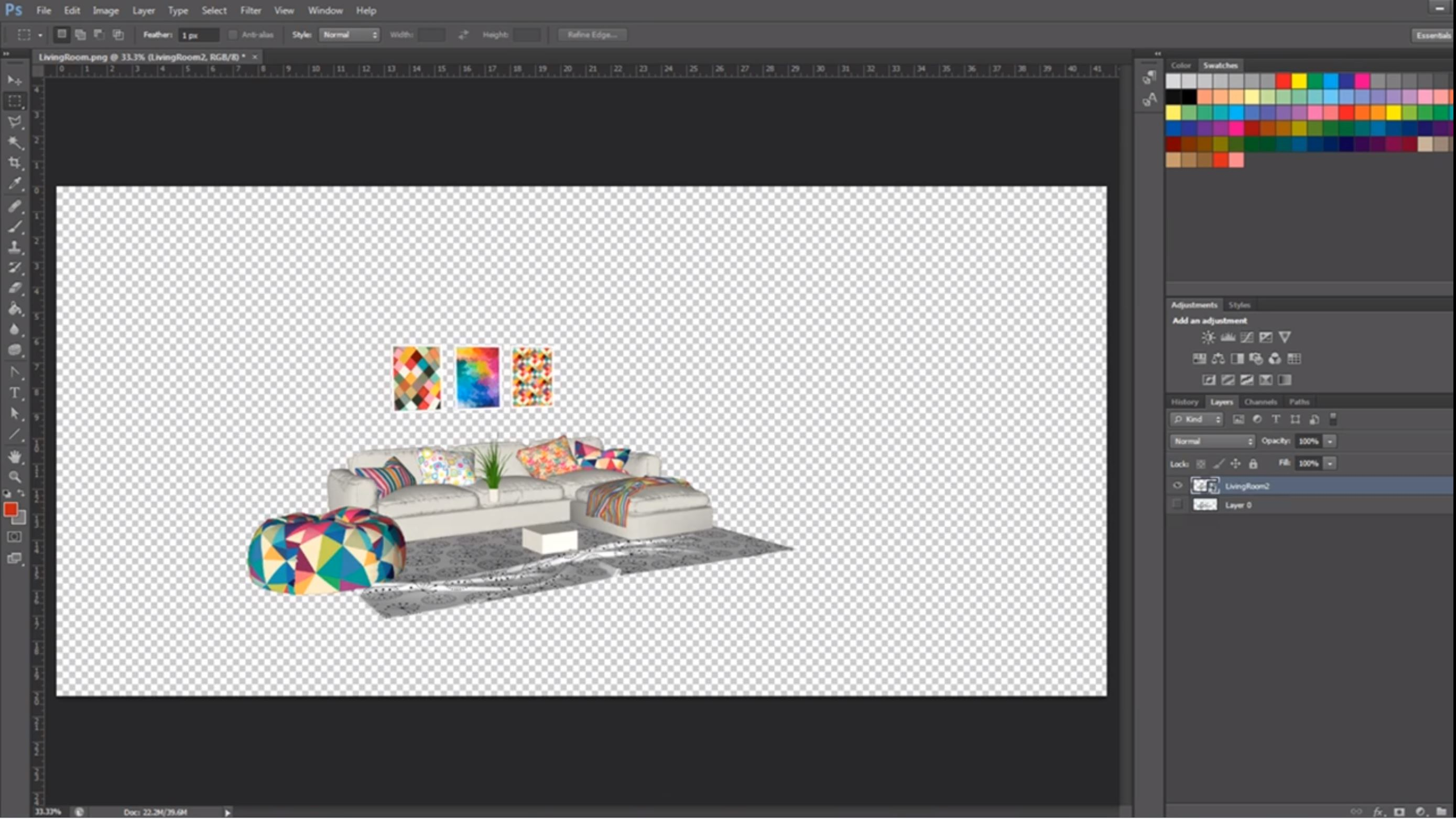 Sketchup PNG in Photoshop