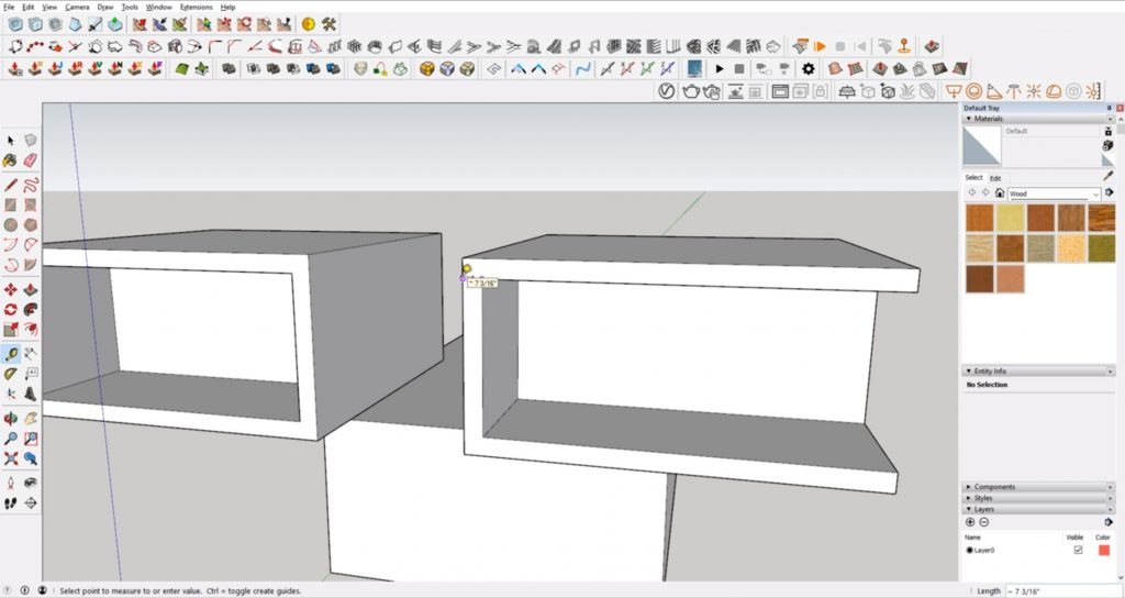 Refining measurements in Sketchup for architecture
