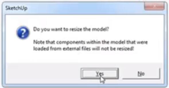 resize survey to 3D model