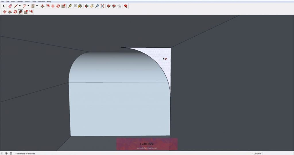Select inner profile for Sketchup follow me tool