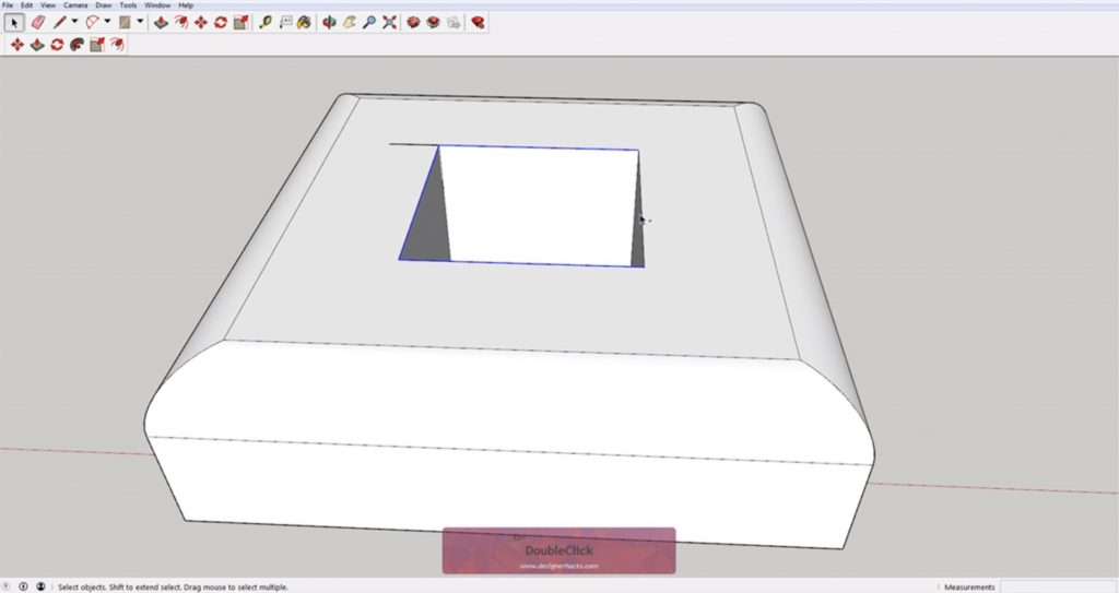 Select inner edges for Sketchup follow me tool