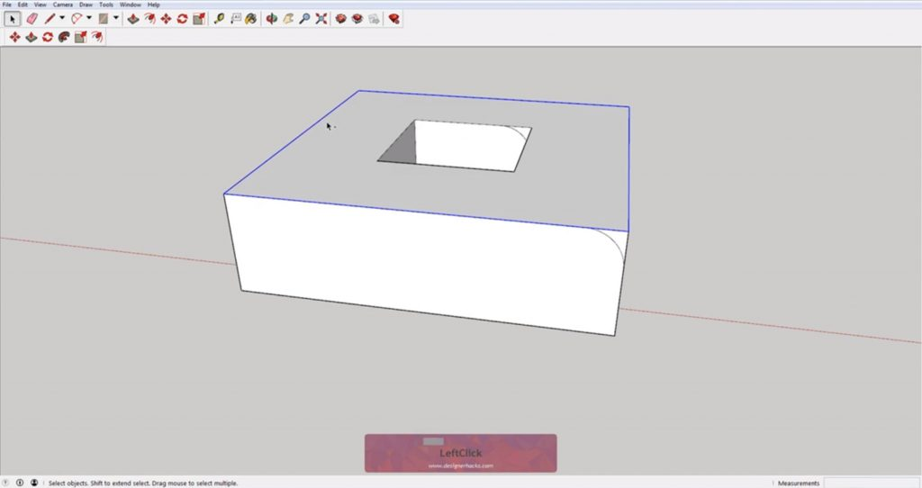 Selecting outer edges for Sketchup follow me tool