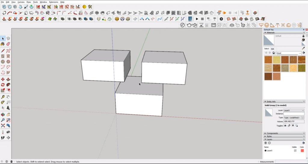 Massing in Sketchup for architecture