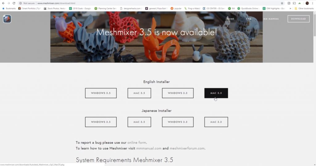 download Meshmixer to create supports for 3D printing