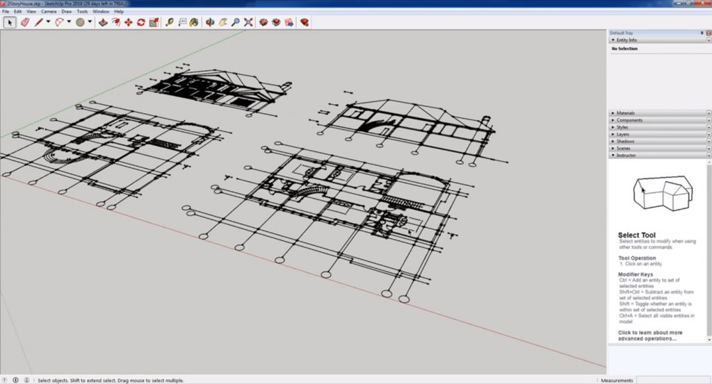 final dwg to sketchup