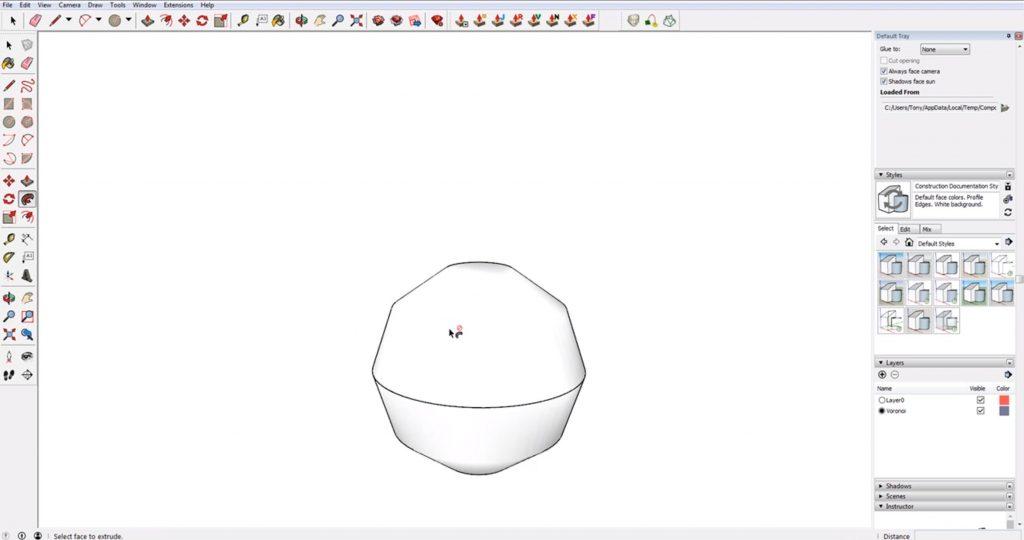 angular sphere in Sketchup
