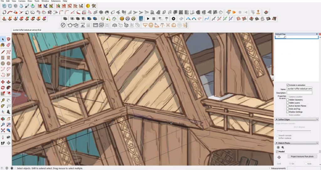 add wood board from concept to 3D