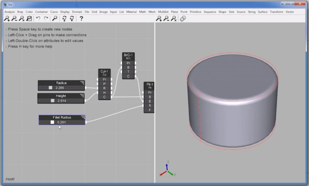 edit radius settings of parametric design in Sketchup