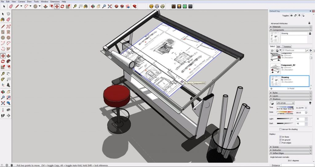 final step to align objects in Sketchup