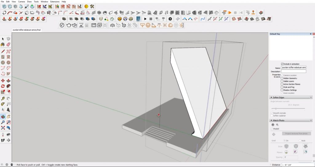 front support profile from concept to 3D