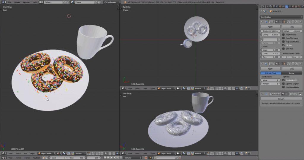from Blender to Sketchup: Blender model