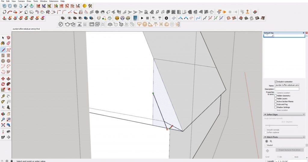 trace front support face from concept to 3D
