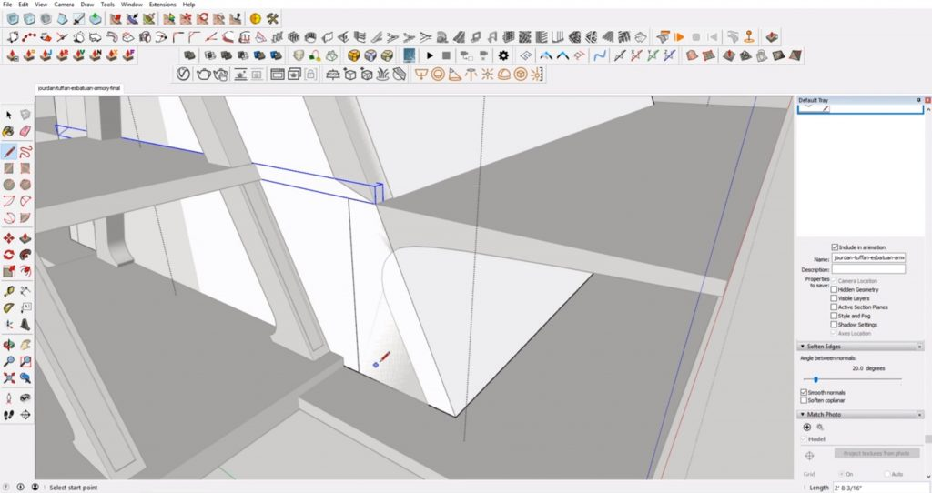 cut out deck support face from concept to 3D