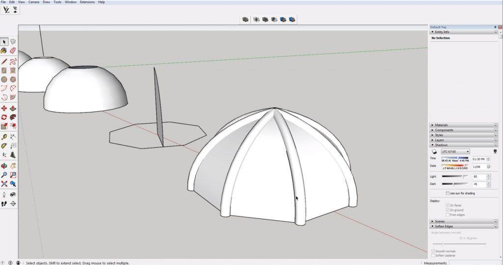 domes in Sketchup with ribs