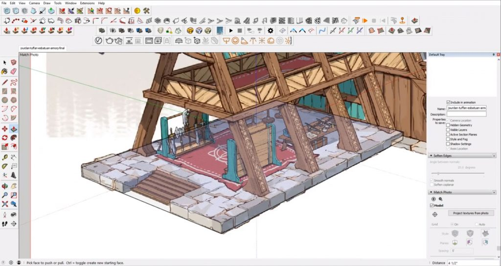 Make front platform from concept to 3D