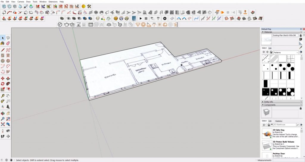 make slab floor from floor plan to 3D