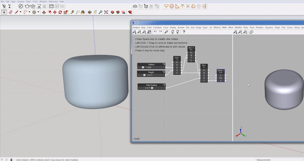 exporting parametric design in Sketchup