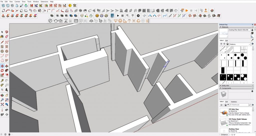 paste headers from floor plan to 3D