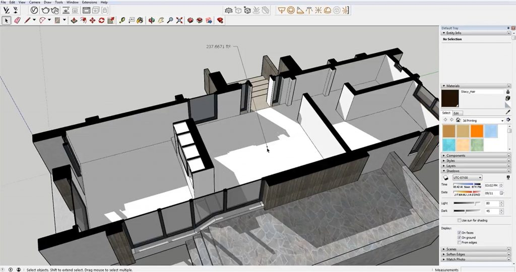 use text tool for area calculations in Sketchup