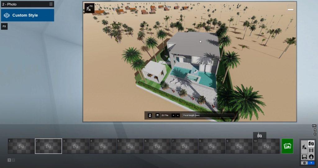 capture the isometric rendering original view