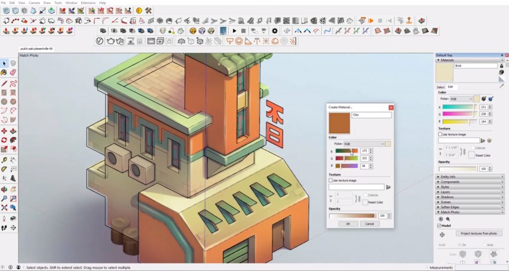 adding color to Sketchup speed model